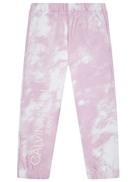 Calvin Klein Jeans Calvin Klein Jeans Teplákové nohavice Cloud Aop IG0IG00775 Ružová Relaxed Fit