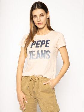Pepe Jeans Pepe Jeans Marškinėliai Cat PL504442 Rožinė Regular Fit