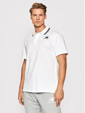 New Balance New Balance Тениска с яка и копчета Classic MT01983 Бял Regular Fit