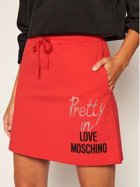 LOVE MOSCHINO LOVE MOSCHINO Trapecijos formos sijonas W155801E 2182 Raudona Regular Fit