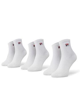 Fila Fila Lot de 3 paires de chaussettes hautes unisexe Calza F9303 Blanc