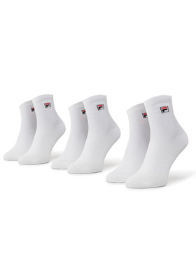 Fila Fila Σετ 3 ζευγάρια ψηλές κάλτσες unisex Calza F9303 Λευκό