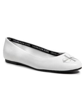 Calvin Klein Jeans Calvin Klein Jeans Балеринки Ballerinas Printed Lth YW0YW00039 Бял