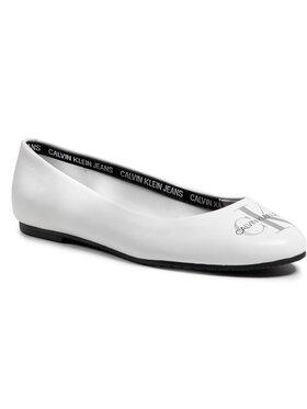 Calvin Klein Jeans Calvin Klein Jeans Baleriny Ballerinas Printed Lth YW0YW00039 Biały