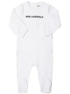 KARL LAGERFELD KARL LAGERFELD Grenouillère Z97030 Blanc Regular Fit