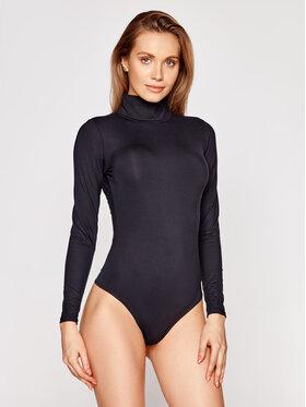 SPANX SPANX Боди Suit Yourself Long Sleeve Turtleneck Thong 20306R Черен Slim Fit