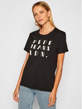 Pepe Jeans Pepe Jeans Marškinėliai Fionna PL504633 Juoda Regular Fit