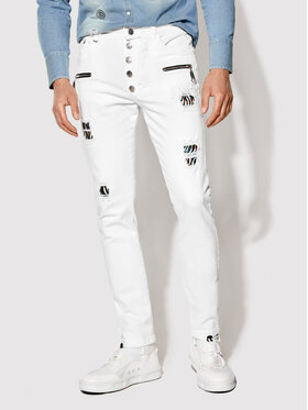Rage Age Rage Age Jeans Hermes 1 Bianco Slim Fit