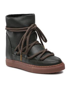 Inuikii Inuikii Batai Full Leather Wedge 70203-089 Žalia