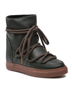 Inuikii Inuikii Παπούτσια Full Leather Wedge 70203-089 Πράσινο