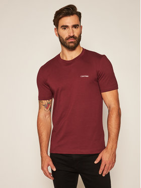 Calvin Klein Calvin Klein T-Shirt Chest Logo K10K103307 Bordó Regular Fit