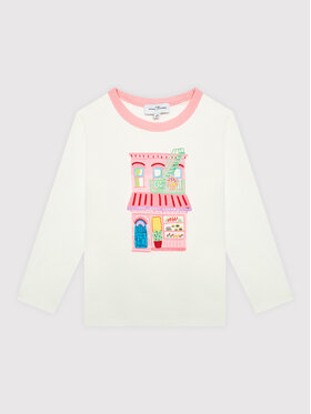 Little Marc Jacobs Little Marc Jacobs Блуза W15583 M Бял Regular Fit