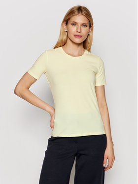 Max Mara Leisure Max Mara Leisure T-Shirt Vagare 39710116 Żółty Regular Fit