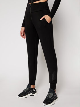 Guess Guess Spodnie dresowe Huda W1RB04 K7UW2 Czarny Regular Fit