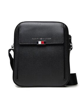 Tommy Hilfiger Tommy Hilfiger Válltáska Business Leather Mini Reporter AM0AM07754 Fekete