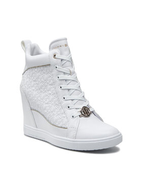 Tommy Hilfiger Tommy Hilfiger Sneakersy Metallic Pop Sneaker Wedge FW0FW06118 Bílá
