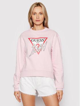 Guess Guess Bluza Icon W1YQ0C K68I0 Różowy Regular Fit