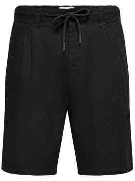 Only & Sons ONLY & SONS Pantalon scurți din material Leo 22019201 Negru Regular Fit