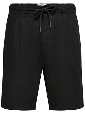 Only & Sons ONLY & SONS Шорти от плат Leo 22019201 Черен Regular Fit