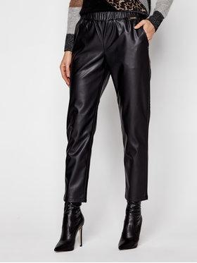TwinSet TwinSet Kožené nohavice 202LI2GDD Čierna Regular Fit