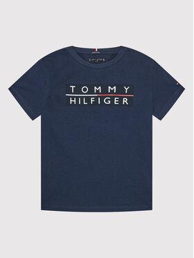 Tommy Hilfiger Tommy Hilfiger T-Shirt Logo KB0KB06675 D Granatowy Regular Fit