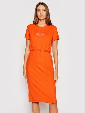 Calvin Klein Calvin Klein Rochie de zi Logo K20K202805 Portocaliu Regular Fit