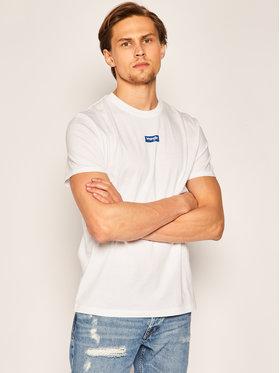 Wrangler Wrangler T-shirt Small Logo W7F0D3989 Bianco Regular Fit