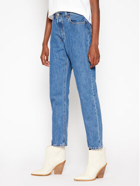 Levi's Levi's Cropped Fit džinsai 501® 36200-0142 Tamsiai mėlyna Cropped Fit