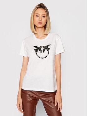 Pinko Pinko T-Shirt Quentin 1G16JB Y4LX Bílá Regular Fit