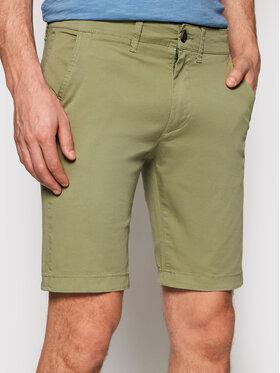 Pepe Jeans Pepe Jeans Bavlnené šortky Mc Queen PM800227 Zelená Regular Fit