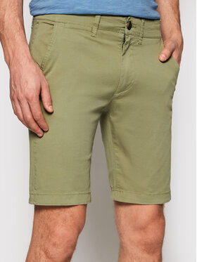 Pepe Jeans Pepe Jeans Шорти от плат Mc Queen PM800227 Зелен Regular Fit