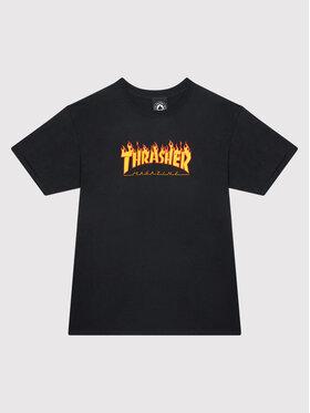 Thrasher Thrasher T-shirt Flame Logo Noir Regular Fit