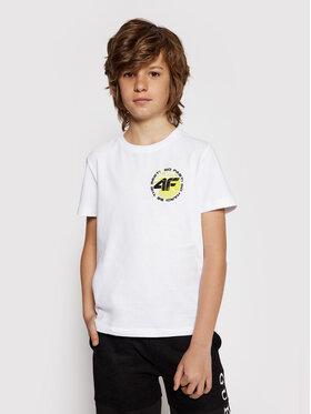 4F 4F T-shirt HJL21-JTSM008A Bijela Regular Fit