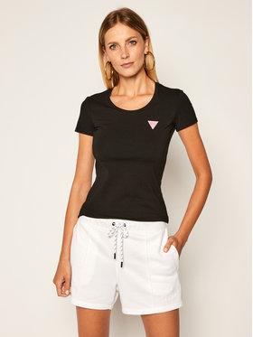 Guess Guess Marškinėliai Kamelia W0YI87 J1300 Juoda Slim Fit