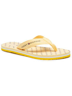 Tommy Hilfiger Tommy Hilfiger Japonki Mini Flags Beach Sandal FW0FW05663 Żółty