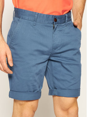 Tommy Jeans Tommy Jeans Šortky z materiálu Essential Chino DM0DM05444 Modrá Regular Fit