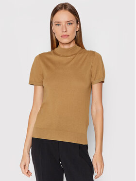United Colors Of Benetton United Colors Of Benetton Golf 102MD2543 Brązowy Regular Fit