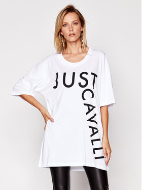 Just Cavalli Just Cavalli T-Shirt S02GC0410 Biały Regular Fit