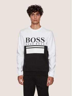 Boss Boss Mikina Salbo 1 50434921 Bílá Slim Fit