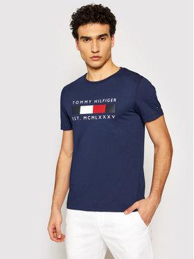 Tommy Hilfiger Tommy Hilfiger T-Shirt Logo Box MW0MW16583 Granatowy Regular Fit
