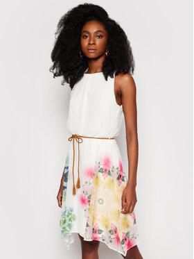 Desigual Desigual Sukienka letnia Shen 21SWVWAZ Biały Regular Fit