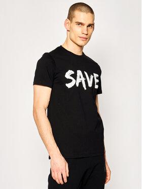 Save The Duck Save The Duck T-Shirt DT401M JESYX Černá Regular Fit