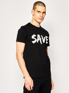 Save The Duck Save The Duck T-Shirt DT401M JESYX Czarny Regular Fit