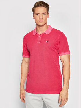 Tommy Jeans Tommy Jeans Polo marškinėliai Tjm Garment Dye DM0DM10586 Rožinė Regular Fit