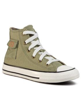 Converse Converse Sneakers aus Stoff Ctas Pocket Hi 667783C Grün