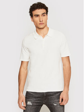 Only & Sons ONLY & SONS Polo Moose 22019416 Biały Regular Fit