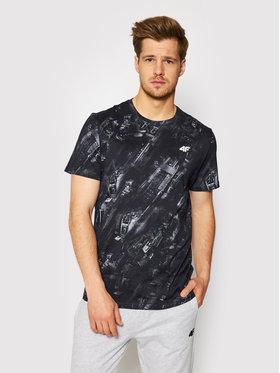 4F 4F Marškinėliai H4L21-TSM017 Juoda Regular Fit