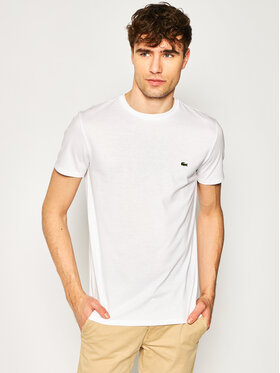 Lacoste Lacoste T-Shirt TH6709 Biały Regular Fit