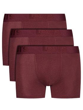 Levi's® Levi's® Komplet 3 par bokserek 905045001 Bordowy