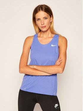 Nike Nike Тениска от техническо трико City Sleek CJ2011 Син Standard Fit